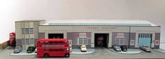 Hornchurch bus garage (kingsway john) Tags: hornchurch bus garage rd lndon transport model 176 scale card kit londontransportmodel london diorama oo gauge miniature