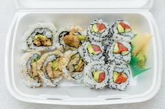 Chicken Teriyaki Roll from Tokyo Thyme ($4.95) / Salmon Avo Q from Tokyo Thyme ($4.50) (qasic) Tags: food chicken japanese avocado salmon