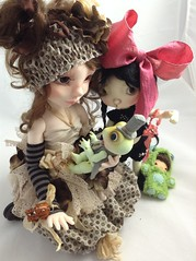 Cookie and her Prince (Miraclebabymouse) Tags: md cookie ooak toad oops bjd soom sprocket msd orangetea yosd fullset marbledhalls tinybjd artistbjd connielowe