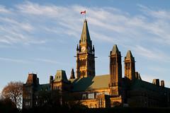 The Hill 3 (tourdelmundo) Tags: sunset canada day ottawa hill capital gothic parliament parlement legislature gothique crepuscule parlamento pwpartlycloudy