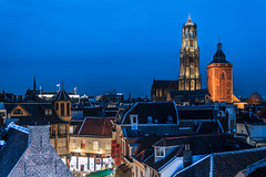 ABM (Another Blue Monday) / Utrecht city ( The Netherlands) (Frans.Sellies) Tags: city night utrecht domtoren dom clear oldcity dedom buurkerk 20140320img9729