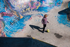 Urban games (Lorenz Vercauteren-Seghers) Tags: street leica city boy brussels urban game square football europe child play belgium streetphotography m8 brussel ursulines urselinen
