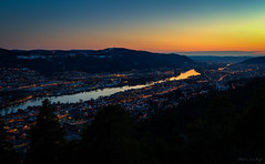 Drammen city @ night (jarud) Tags: city sunset norway night norge timelapse shoot drammen 2014