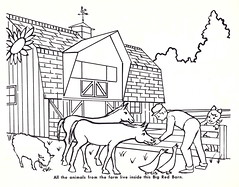 All The Animals From The Farm (Namey McNamerson) Tags: zoo book indianapolis coloring 1965