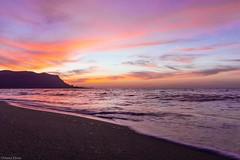 Sunset at Isola delle Femmine (Marie Hélène) Tags: sunset seascape seaside sky pink mare landscape canon italy sicily palermo longexposure colours italia