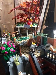 Baker's Mill; version 2.0 (Bennemans1984) Tags: lego moc afol city town mill windmill tree beehive wharf shed