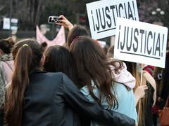 Justice on International Women's Day (Una_Clara) Tags: madrid spain womensrights womensmarch inetrnationalwomensday cibeles
