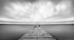 Fictitious landscape, B&W. (PvRFotografie) Tags: nederland holland oostvoorne water meer lake clouds wolken longexposure nd nature natuur filter leebigstopper leesw150 sonyilca99m2 1224mm sigma1224mm sigma12244556 12mm wideangle groothoek