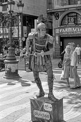 055-Barcelona-La Rambla (marek&anna) Tags: mime spain barcelona lasramblas