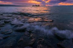 sunset 6299 (junjiaoyama) Tags: japan sunset sky light sun cloud weather landscape blue purple contrast colour bright lake island water nature winter wave rays beams