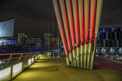Salford (graemecave) Tags: quays salfordquays bridge colours night manchester mk111 canon5dmk111 long