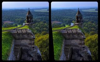 Barbican of Fortress Königstein 3-D / Stereoscopy / CrossEye / HDR / Raw