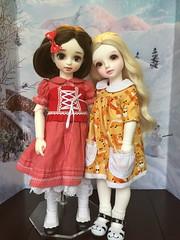Ellowyn (MYou BB Sally) and Corinthia (Luts BD Gabriel) (whisperwolf16915) Tags: luts babydelf myou bigbaby bjd myoudoll sally gabriel doll customhouse