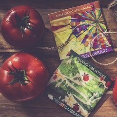 Dreaming of a Salad Garden (jm atkinson) Tags: tomatoes seeds still table cutting board 7dwf tomatotuesday