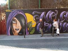"""No a la violéncia contra les dones"" (JoséDay) Tags: santacolomadegramenet spain barcelona mural graffiti streetart streetscene passingby panasonicdmctz10"