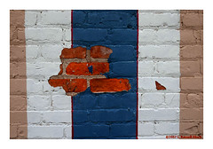 Brick (TooLoose-LeTrek) Tags: brick wall color paint patch blue
