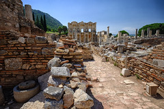 Library of Celsus in Ephesus, Turkey (` Toshio ') Tags: toshio ephesus turkey libraryofcelsus library ruins roman anatolia fujixe2 xe2 ancient history road