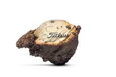 Scorched (Bill Hornstein) Tags: titleist ball burned charred fire golf golfball hot melt scorched