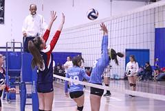 IMG_3608 (SJH Foto) Tags: girls volleyball teen teenager team quickset storm u14s net battle spike block action shot jump midair burst mode