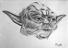 Yoda FanArt (palma86) Tags: star wars yoda fanart fan art zeichnung painting bleistift pencil bleistiftzeichnung drawing