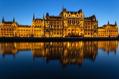 Hungarian Parliament - Budapest (diesmali) Tags: hungary budapest parliament house water reflections dusk twilight mirror lights architecture canoneos6d országház canonef1740mmf4lusm