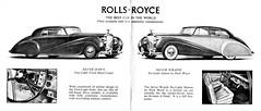 1953 rollsroyce silver dawn four light fixed head coupe wraith six saloon park ward brochure