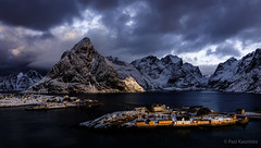 Winter on Lofoten (PasiKaunisto) Tags: norway norge landscape landscapephotography seascape lofoten islands winter mountains snow sunlight sunrise sakrisøy sakrisoy reine