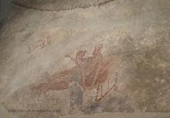 0012 Lupanar,Fresco above cubicle, Vicolo del Lupanare, Pompeii (6) (tobeytravels) Tags: pompeii lupanar brothel fresco