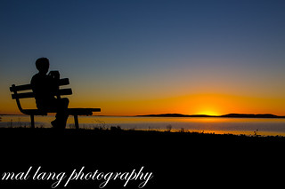 Watching the sunrise over Boston Island