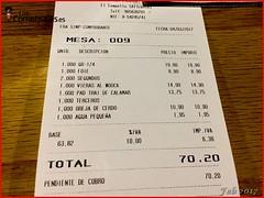 Ticket - Restaurante Brel (LosComensales.es) Tags: elcampello comunidadvalenciana españa