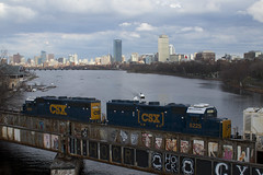 Heading Up the Branch (imartin92) Tags: csx b721 6212 local freight train grandjunction railroad branch cambridge boston bu bostonuniversity massachusetts emd gp402 bridge charlesriver