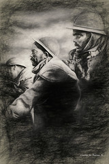 Digital Chalk and Charcoal Drawing of  French Soldiers at Verdun by Charles W. Bailey, Jr. (Charles W. Bailey, Jr., Digital Artist) Tags: soldiers worldwari battleofverdun battle grandest france europe photoshop photomanipulation topaz topazlabs topazclarity alienskin alienskinsoftware alienskinexposure topazimpression topazadjust on1photo topazlenseffects topazrestyle charcoal chalk drawing chalkdrawing charcoaldrawing chalkandcharcoaldrawing art fineart visualarts digitalart artist digitalartist charleswbaileyjr