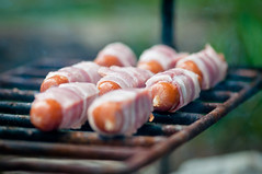 ..::YUMMY::.. (pawannee) Tags: barbecue hiking summer spring macro closeup bacon sausage grill outdoor holidays