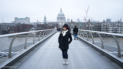 20161217 Millennium Bridge - London A (photos by @lifeinvisuals) Tags: travelblog travel blog traveller traveler travels trip vacation shaherald muslimtraveller muslimtraveler honeymoon musafir london england uk unitedkingdom holiday millenniumbridge bridge people millennium riverthames thames
