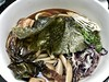 """""""Alphabet soup is my magic eight ball. Served hot or cold, words are delicious."""" ―Amanda Mosher 🍲 (anokarina) Tags: noodles mushrooms soup foodporn appleiphone7 petworth nori seaweed tentigers cabbage enoki shiitake"""