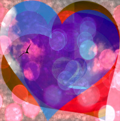 Love (soniaadammurray - On & Off) Tags: digitalphotography manipulated experimental collage abstract love bird sky hearts bokeh quotes davidworr chiefredeagle planet successfulpeople peacemakers healers restorers storytellers lovers livewell moralcourage habitable humane angy power loving care 2017