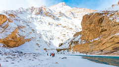 A Walk To Remember (Sid's Corner) Tags: green mountains valley ladakh leh india incredibleindia northindia chadar chadartrek river zanskar zanskarriver frozenriver ice snow snowscape snowcapped blue water freeze frozen trek landscapes landscape nature natureaddict nationalgeographic ngc flickraward nikon nikond800 schoksi schoksiphotography scenery mountain yellow bluesky trail