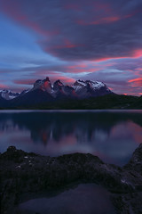 Lenticular Surprise at Lago Pehoe (Foto Fresh) Tags: patagonia argentina chile elchaltan elcalafate lagopehoe sunrise sunset dawn landscape photoshop sony a7r2 emount wideangle 2470 70200 1635 exposureblending luminositymask colbybrownphotography torresdelpaine nationalpark losglacieres cerrotorre lenticular clouds pool reflections alpenglow fall autumn colorful colors