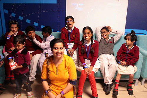 KidZania Tour for Kids with disabilities:The group can be seen here with one of their teachers.