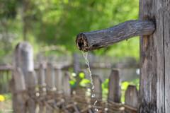 Der alte Gartenbrunnen (H. Eisenreich) Tags: eisenreich hans fujifilm xt1 zaun wasser alt fountain garden brunnen meran wood garten old südtirol holz trautmanndorff gartenbrunnen fence bokeh water