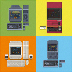 Japanese Computers (www.lowrez.de) Tags: pixelart japan computer homecomputer x68000 fmtowns x1 retro gaming