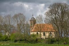 Sunlight and rain (Greet N.) Tags: dorkwerd smallvillage groningen church sunlight rain