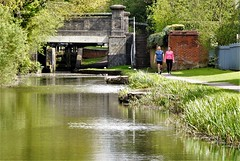 Mid-day stroll (dlanor smada) Tags: grandunion canals aylesbury bucks chilterns strolling water peopleandpaths