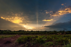 Illuminating (blue5011b) Tags: africa sunset sun ray clouds thunderstorm landscape illumination sunshine nikon d700 2470mm