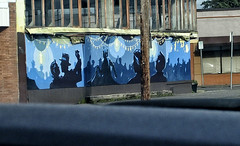 2017-04-07 Dancing in the street! (Mary Wardell) Tags: mural blue urban art unexpected ps portland oregon