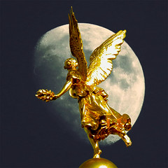 Nacht (ulrich.grabowski) Tags: dresden engel nacht mond