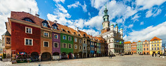 IMG_4218 A white pigeon (Sakuto) Tags: panoramic city poznan night day landscape building view color architecture townhall oldsquare