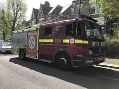 AE07PYZ / DPL1232 Mercedes Atego 1325 of London Fire Brigade (Ian Press Photography) Tags: 999 fire brigade stapleton hall road explosion service services emergency ae07pyz dpl1232 mercedes atego 1325 london merc benz