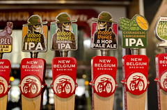 New Belgium Tap Handles (photographyguy) Tags: colorado newbelgium newbelgiumbrewing beer taphandles ftcollinscolorado ftcollins brewery taphouse voodooranger ipa craftbeer