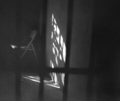 Old Gilchrist County Jail (macromary) Tags: 120 120film analog florida pentax6x7 mediumformat blackwhite analogphotograph bokeh bw blackandwhitefilm filmcamera film mechanicalcamera vintage vintagecamera 75mm f45 oldgilchristcountyjail jail cell bars incarcerated gilchristcounty haunted spirit paranormal ilford 3200 ilforddelta3200 ghost ghosts dark spooky haunting